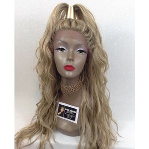 ASH BLONDE SWISS LACE FRONT WIG